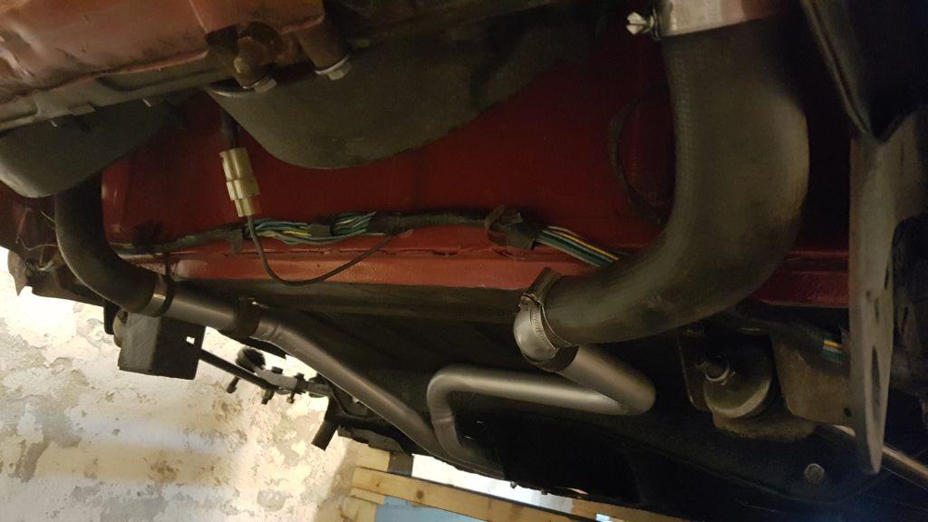Lancia Montecarlo radiator gemonteerd