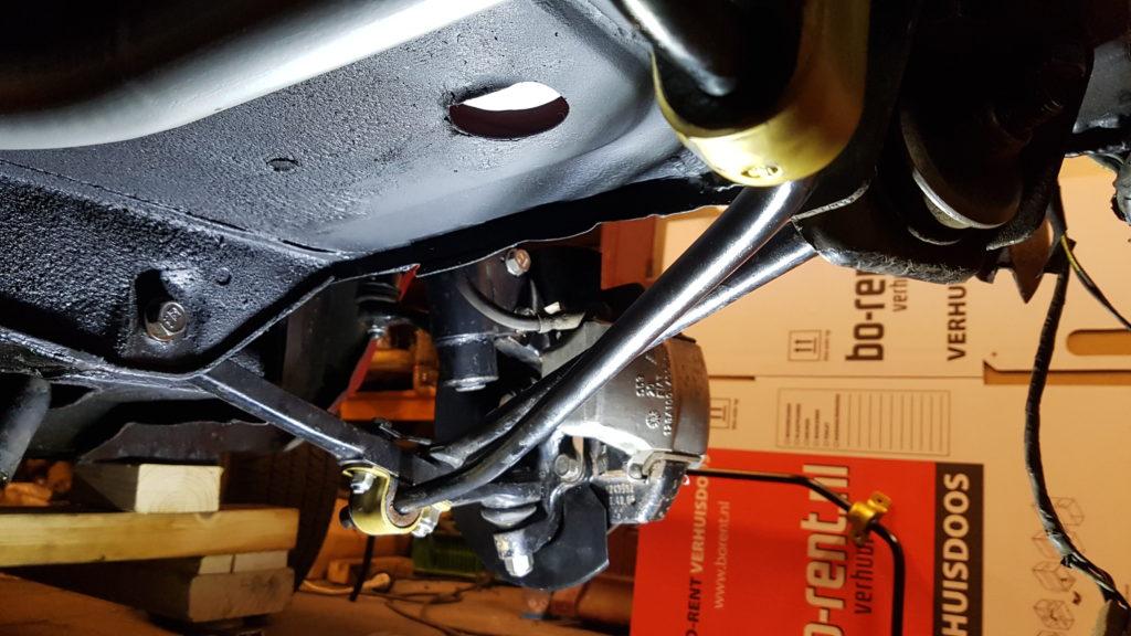 Lancia Montecarlo voorwielophanging gereed