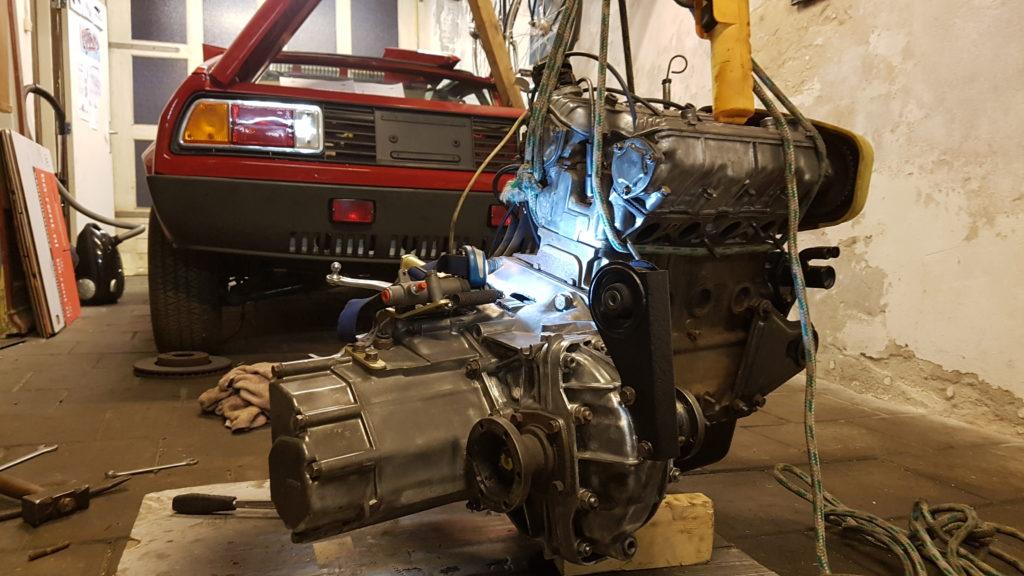 Lancia Montecarlo Huwelijk bak en motor