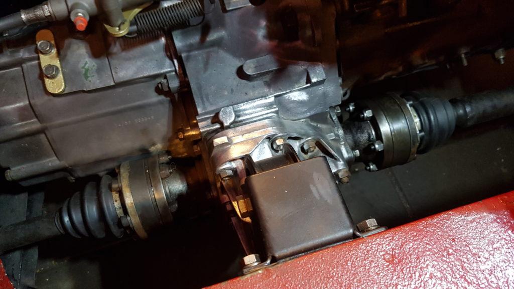 Lancia Montecarlo Differentieel met aandrijfassen