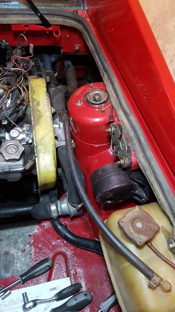 Lancia Montecarlo Koelsysteem motor