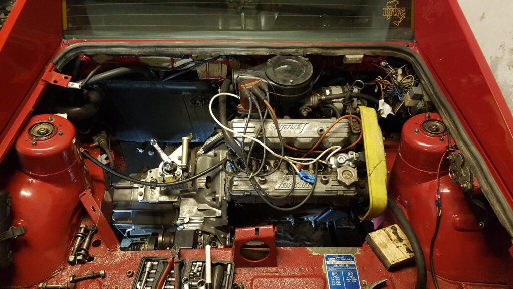 Lancia Montecarlo start motor uitbouw