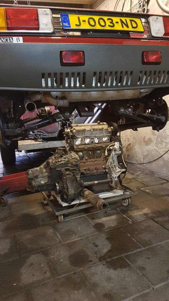 Lancia Beta Montecarlo nieuwe motor staat klaar