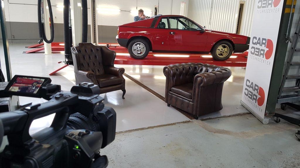 Lancia Beta Montecarlo op de set